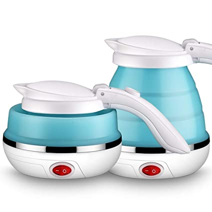 60ac16f36463 500ML Foldable Travel Electric Kettle Food Grade Silicone Collapsable  Portable Water Kettle