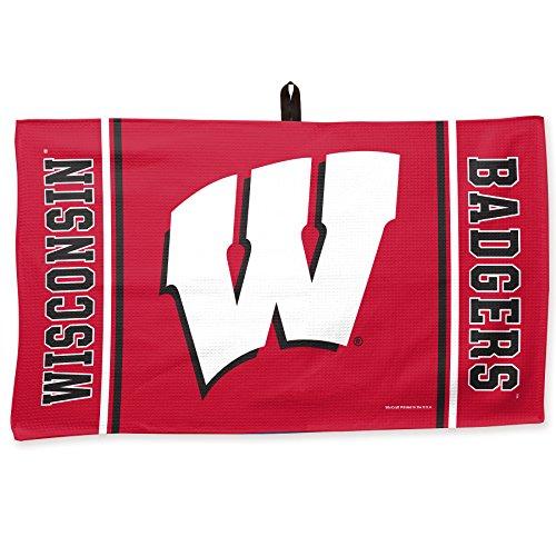 NCAA University of Wisconsin Waffle Towel, 14 x 24, Black