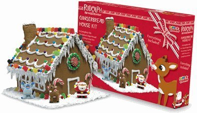 Color A Cookie Rudolph The Red Nosed Reindeer Gingerbread House Kit,  28.8 Ounce Kit: Amazon.com: Grocery U0026 Gourmet Food