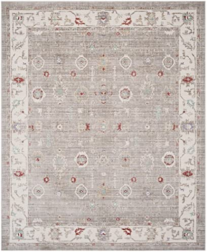 Safavieh Windsor Collection Abstract Area Rug, 9 x 13 , Light Grey Ivory