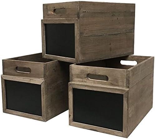 3 Puertas Cajas con Pizarra de Estilo Antiguo 20 cm: Amazon.es: Hogar
