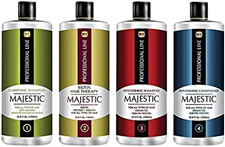 Majestic Biotin Therapy Hair Treatment Complete Kit, 475 ml