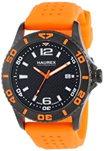 Haurex Italy Men's 3N500UON Factor Black Ion-Plated Coated Stainless Steel Rotating Bezel Date Watch