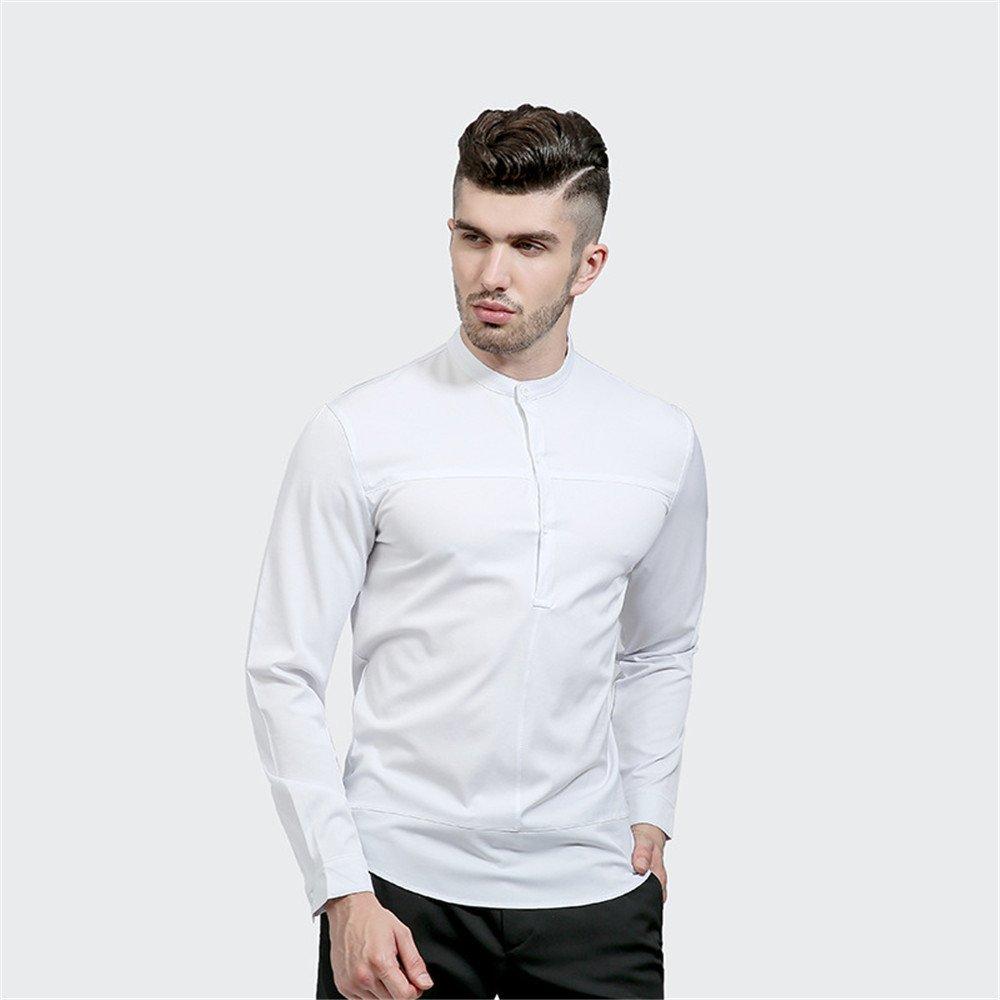 Lixus männer - Mode einfach Kragen Hemd, ärmel Kopf alle Spiel - Kragen - Farbe,weiße,XL