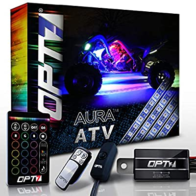 OPT7 10pc Aura ATV UTV Underbody Glow LED Lighting Kit with Wireless Remote Controller | Multi-Color Accent Glow Neon Strips Atmosphere Light w/Switch for SXS Side x Side Polaris RZR XP 1000: Automotive