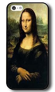 iPhone 5C Case, Leonardo Da Vinci Mona Lisa Hard PC Plastic Case Cover for iPhone 5C Black
