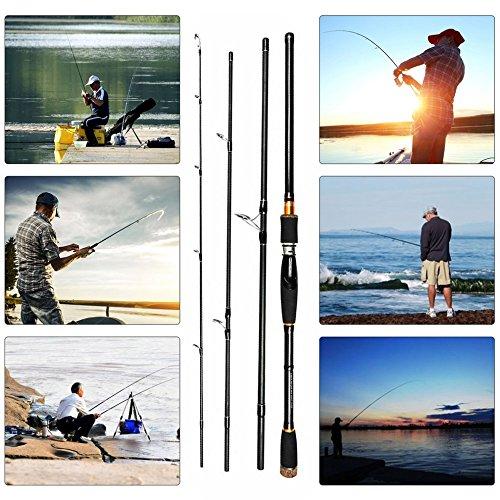 Tmalltide Portable Super-Hard Tune High-Carbon Long Shot Lure Rod Sea Rod Fish Pole