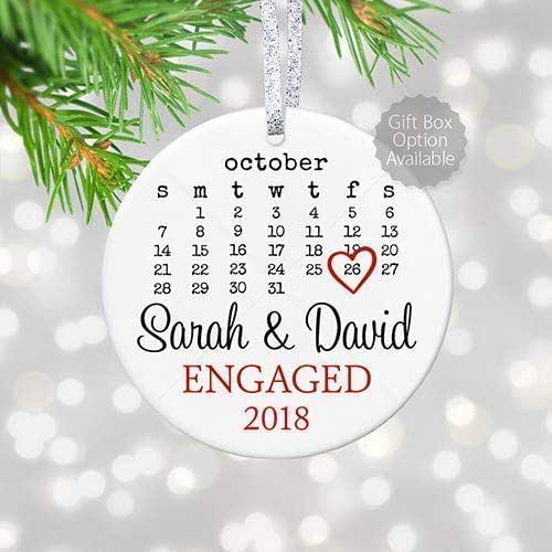 Unique Gifts For Christmas 2019: Amazon.com: Personalized Engagement Gift With Date For