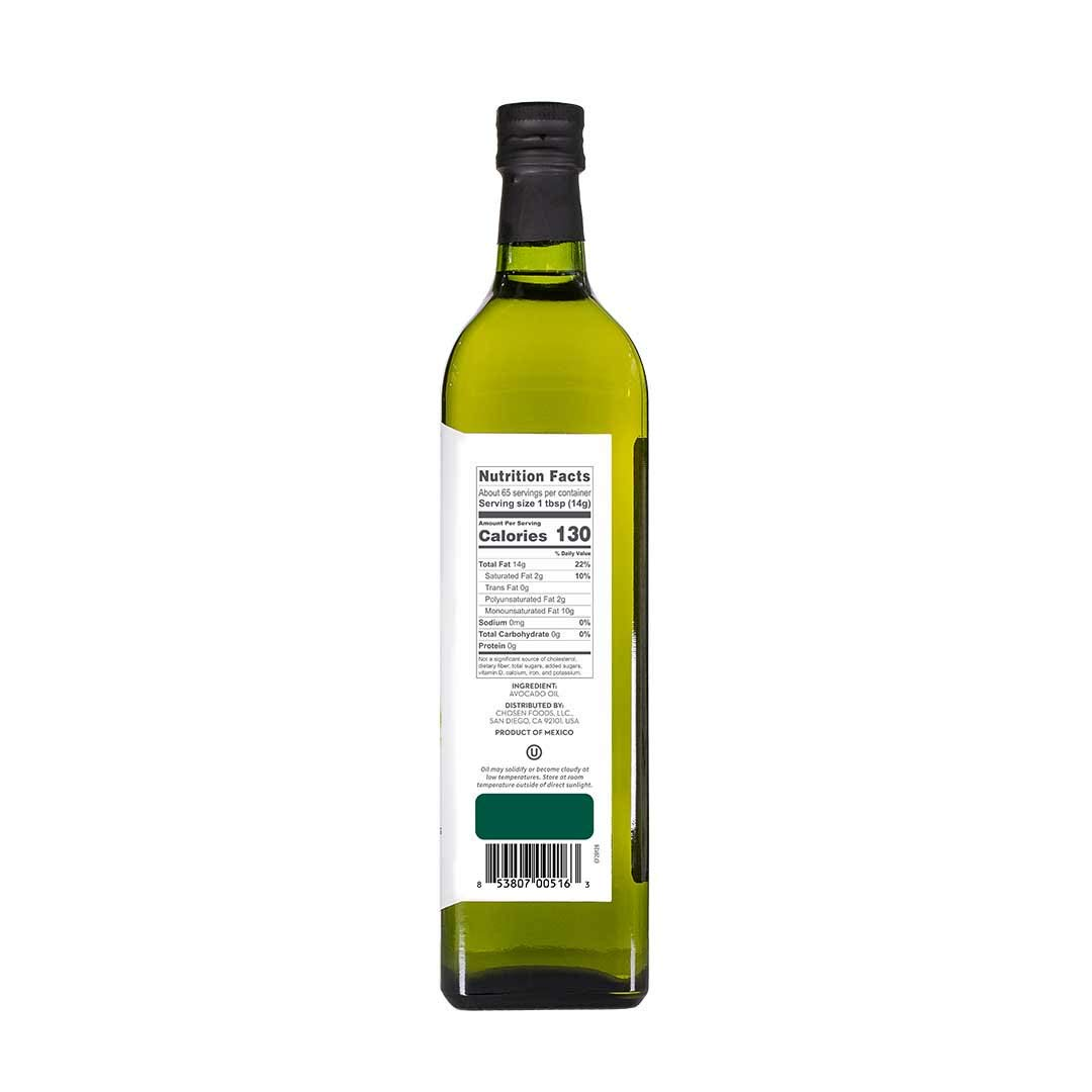 Chosen Foods 100% Pure Avocado Oil 1 L (3 Pack), Non-GMO, for High-Heat Cooking, Frying, Baking, Homemade Sauces, Dressings and Marinades by Chosen Foods (Image #2)