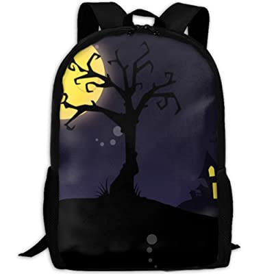 50%OFF SZYYMM Cartoon Halloween Oxford Cloth Casual Unique Backpack, Adjustable Shoulder Strap Storage Bag,Travel/Outdoor Sports/Camping/School For Women And Men