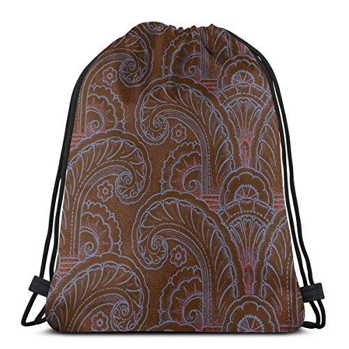 Acanthus Moderne 1a_4539 Drawstring Backpack Gym Spacious Pull String Backpack for Sport School Traveling Gym Basketball Yoga 13x18 inch13x18 inch