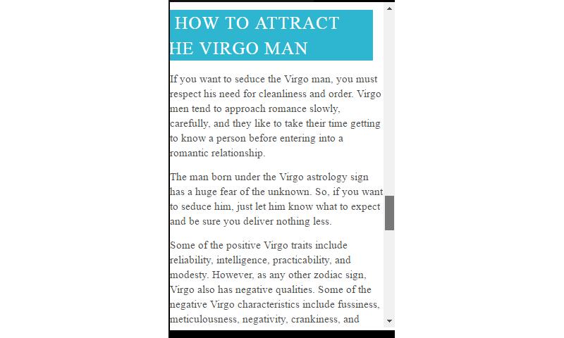 Man characteristics virgo 9 Core