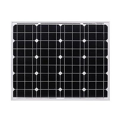 DOKIO 50 Watts 12 Volts Monocrystalline Solar Panel