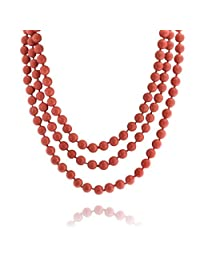 Bling Jewelry Simulated Pearl Strand Necklace 64in