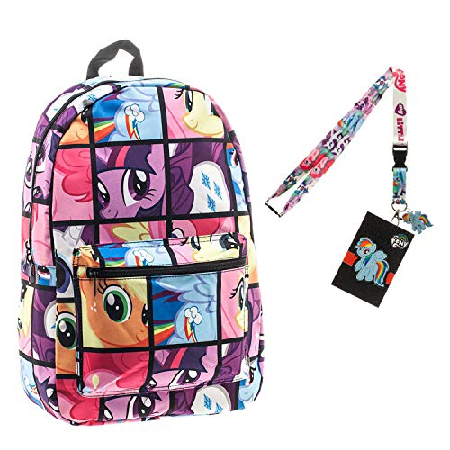 (My Little Pony Backpack with Lanyard and Keychain Charm (Comic Strip Version))