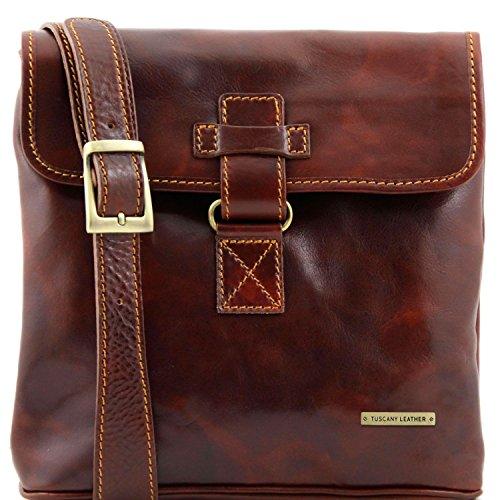 Leather Marrón Bolso en Tuscany Marrón oscuro unisex Andrea piel Awdcfq7