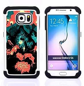 For Samsung Galaxy S6 G9200 - TRAVEL ROAD SYMBOLIC ART PAINTING CITY LAVA Dual Layer caso de Shell HUELGA Impacto pata de cabra con im??genes gr??ficas Steam - Funny Shop -