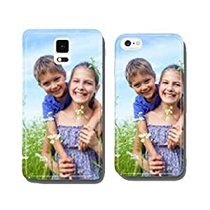 Kids with wild spring flowers cell phone cover case iPhone5