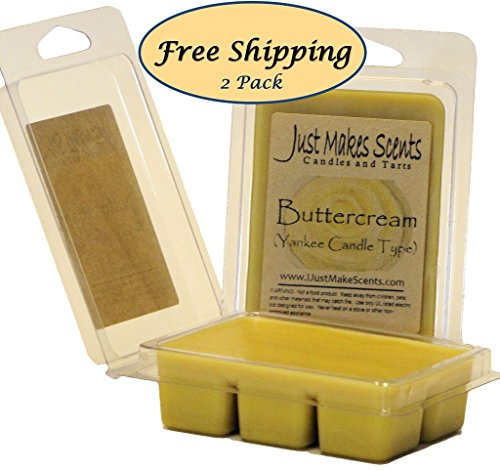2 Pack - Buttercream (Yankee Candle type) Scented Soy Wax Melts by Just Makes Scents