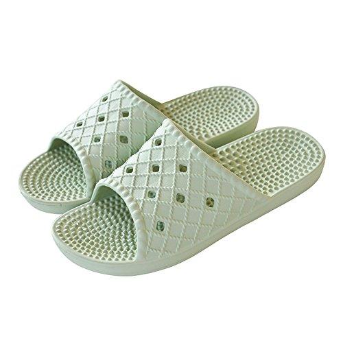 Cómodo Cuarto de baño con las zapatillas Zapatillas antideslizantes del baño Zapatos caseros caseros frescos Zapatos caseros simples de la luz de verano femenina (4 colores opcionales) (tamaño opciona B