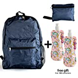 Foldable Backpack Light Weight and Durable, Solid Dark Blue Review