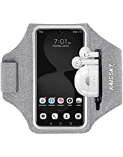 Running Armband with Airpods Bag Cell Phone Armband for iPhone 12/12 Pro11/11 Pro/XR/XS/8/7, Water Resistant Sports Phone Holder Case with Touchscreen & Zipper Slot Car Key Holder for 6.5 inches Phone