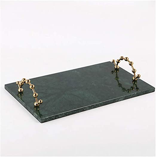 Amazon Com Awydhc Nordic Marble Tray Decorative Tray Gold Edged