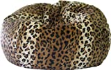 Gold Medal 30008468813 Small Fuzze Suede Bean Bag for Children, Cheetah Print by Gold Medal