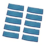 Blesiya 10 pieces Replacement Wet Mopping Pad for iRobot Braava Jet 240 241 (Blue)