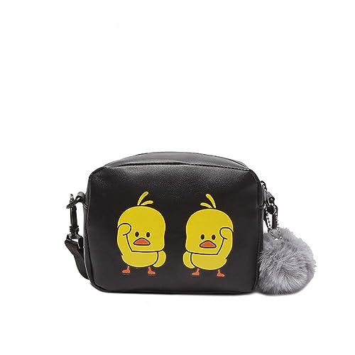 ee376d3f1aa54 LIGEsayTOY UmhäNgetasche Damen Leder Guess Handtasche Supreme Rucksack Damen  Tasche Sale Frauen-Karikatur-Enten-Mini Schulter-Kuriertasche Nette ...