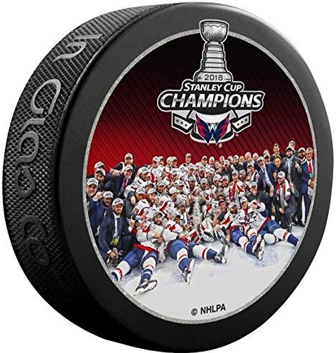 Sherwood Stanley Cup Photo Souvenir Hockey Puck - 2018 Capitals