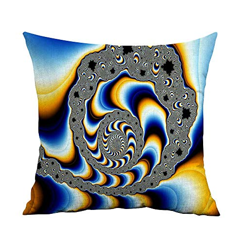 - CRICKOOM Decorative Square Accent Pillow Case Abstract Fractal Color Psychedelic Swirl Mindteaser Mind Art Cg Digital Wallpaper HD W17.8 x L17.8,Throw Pillows Farmhouse