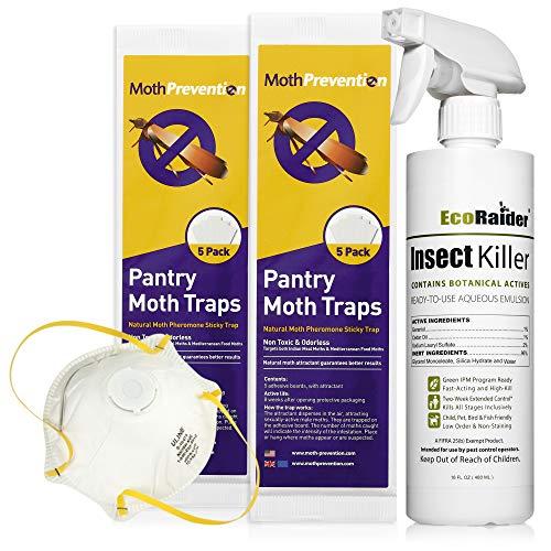 West Bay Retail | Pantry Moth Killer KIT - Natural Moth Killer Kit by MothPrevention - 1 Room Treatment (Best Room Spray In India)