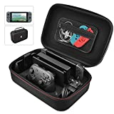 Nintendo Switch Protective Case, Portable Multi-Function Hard EVA Pouch Storage Bag Carrying Case For Nintendo Switch Console &Accessories Black