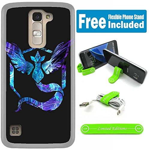 [Ashely Cases] LG K10 Cover Case Skin with Flexible Phone Stand - Pokemon Team Mystic Purple Photo - Pokemon Gaming