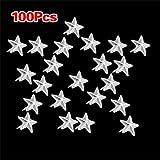 100X Apliques Remaches Plata 7mm Estrella Tachuelas Bolsa/Calzado/Guante