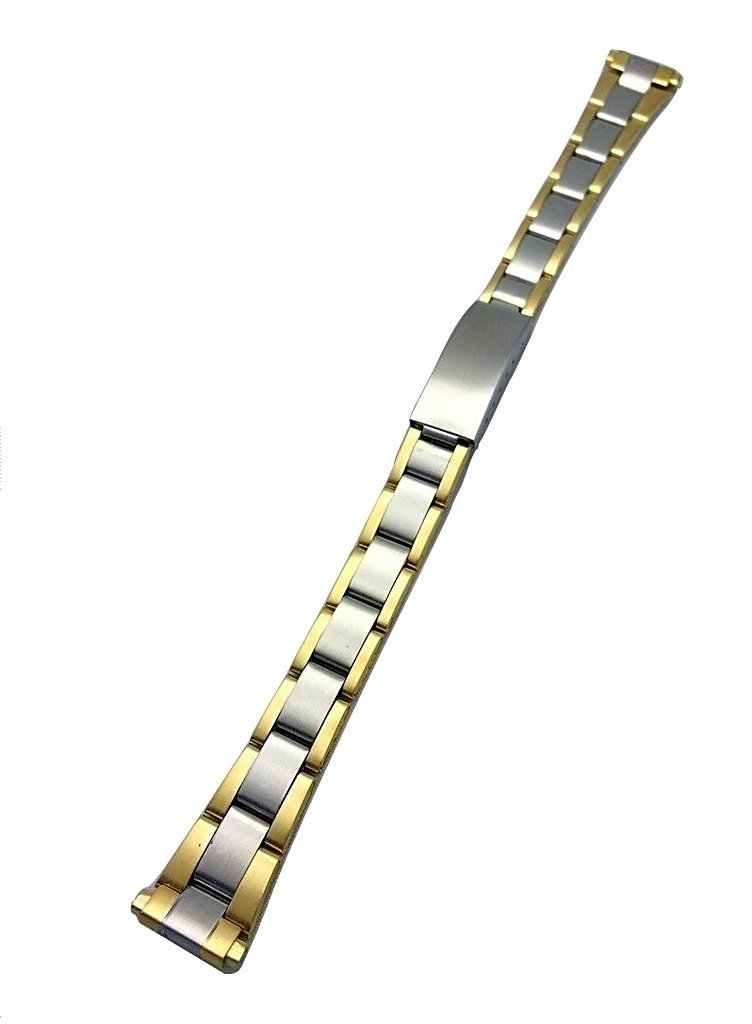 12-15mm Metal Stainless Steel Watch Band by NewLife   Women's Gold-Tone and Silver Tone Watch Bracelet Replacement Strap with Clasp