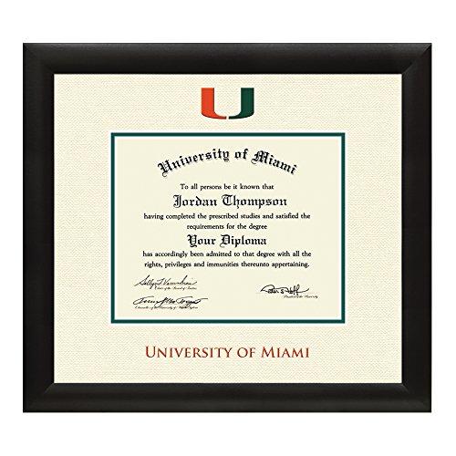 Amazon Com University Of Miami Diploma Frame Textured