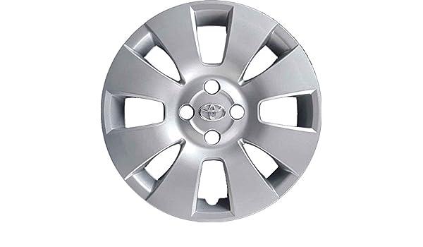 Juego de 4 tapacubos para llantas de Toyota Yaris con ruedas de 15 pulgadas (año de fabricación 2006 - 2011). Producto no original.: Amazon.es: Coche y moto