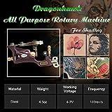 Dragonhawk Complete Tattoo Kit 2 Pro Machines Rotary Gun Power Supply 50 Needles 10 Immortal Inks 0.5oz Kuro Sumi Black Ink Grips Tips 2-1YMX