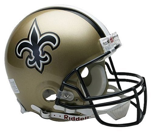 New Orleans Saints Replica Helmet - NFL New Orleans Saints Full Size Proline VSR4 Football Helmet