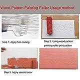 "TINTON LIFE 2Pcs Rubber 7"" Empaistic Wood Pattern"