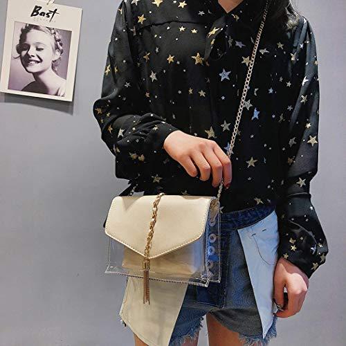 unique femme pour porter Argent l'épaule à taille à Silver Sabarry Noir Sac TpqTv