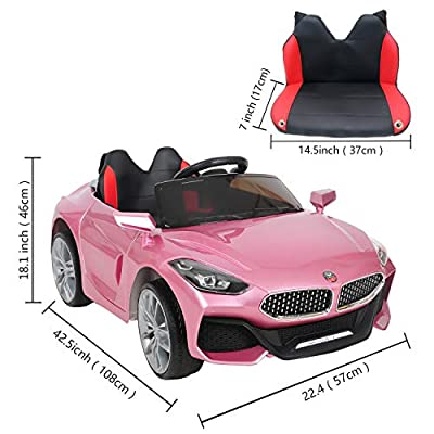 ABDQPC Ride On Car, Electric 12V Rechargeable Battery Powered Electric Car with 2 Motors, Parental Remote Control & Manual Modes, LED Lights, MP3 for Kids: Toys & Games