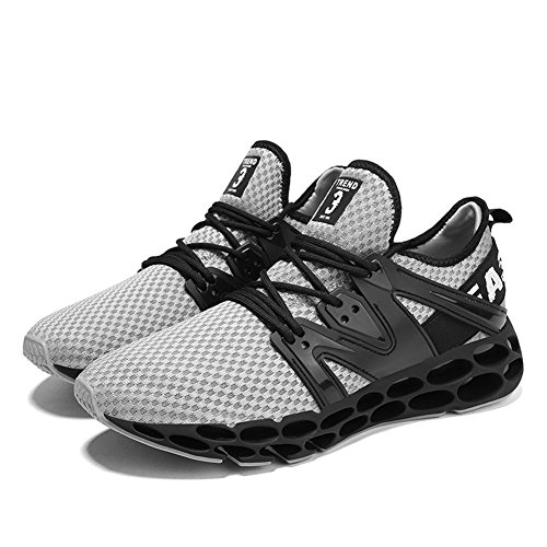 HONGANG Men's Leisure Fashion Blade Lightweight Grey Shoes for Sports with Athletic Shoes Running Running Breathable Shoes Outdoors Erqr0