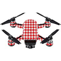 Skin For DJI Spark Mini – Red Houndstooth | MightySkins Protective, Durable, and Unique Vinyl Decal wrap cover | Easy To Apply, Remove, and Change Styles | Made in the USA
