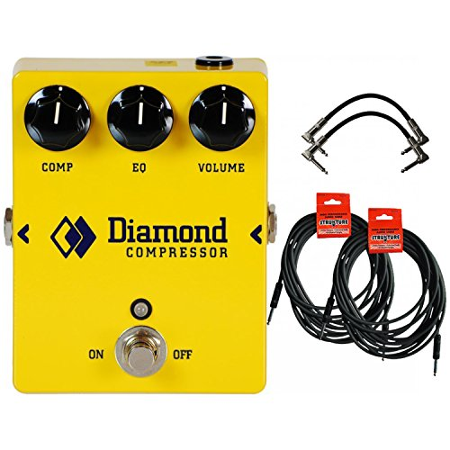 [Diamond CPR-1 Compressor - Opto Comp and EQ Pedal w/ 4 Cables] (All That Jazz Single Chain)