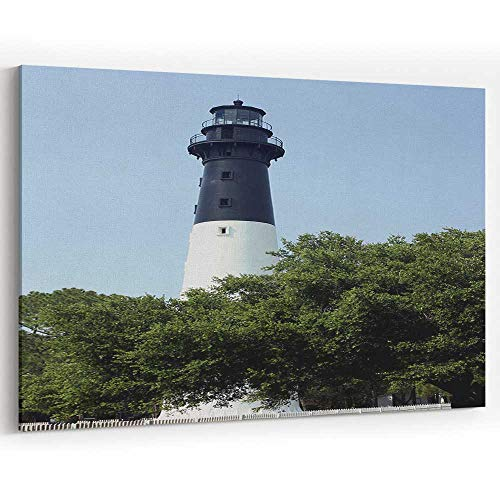 Actorstion Hunting Island Lighthouse Canvas Art Wall Dcor for Home Decor Stretched-Framed Ready to -