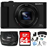 Sony Cyber-shot HX80 Compact Digital Camera 64GB Memory Card Bundle includes Camera, Card, Reader, Wallet, Case, HDMI Cable, Mini Tripod, Screen Protectors, Cleaning Kit, Beach Camera Cloth and More!