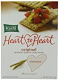 Kashi Heart to Heart Whole Grain Crackers, Original, 8-Ounce (Pack of 5)